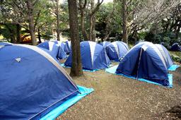 Tiendas instaladas en el parque HIBIYA
